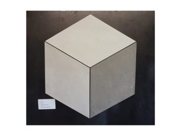 Rhombus shaped tiles placed together to make a regular hexagon
