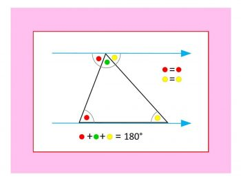 angles in a triangle equal 180 degrees
